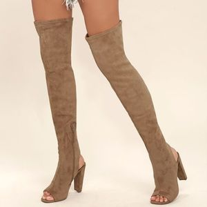 Steve Madden Kimmi Peep-Toe Over-the-Knee Boot